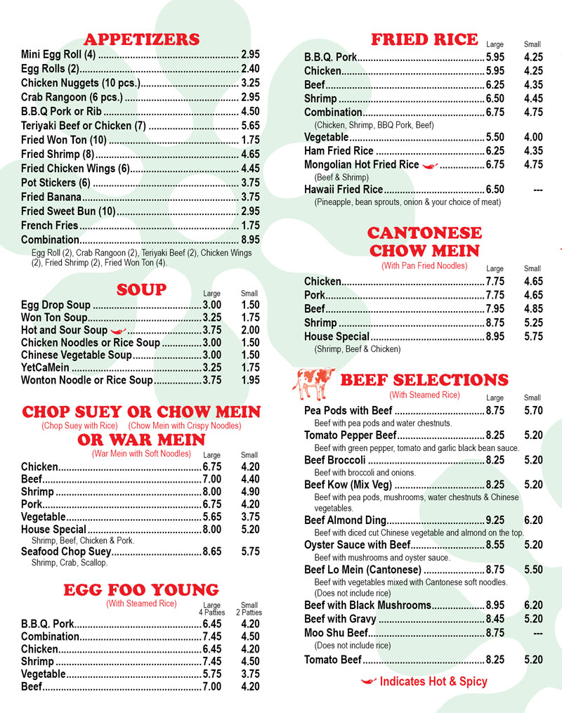Ing 39 s china king buffet for King s fish house menu